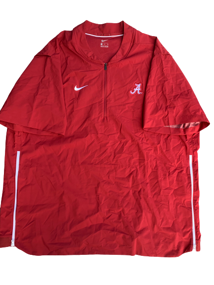 Matt Womack Alabama Team Issued Quarter-Zip Windbreaker (Size XXXL)