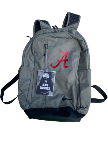 Matt Womack Alabama Player Issued Backpack with Citrus Bowl Travel Tag