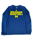 Max Bielfeldt Michigan Basketball Long Sleeve Shirt (Size XL)