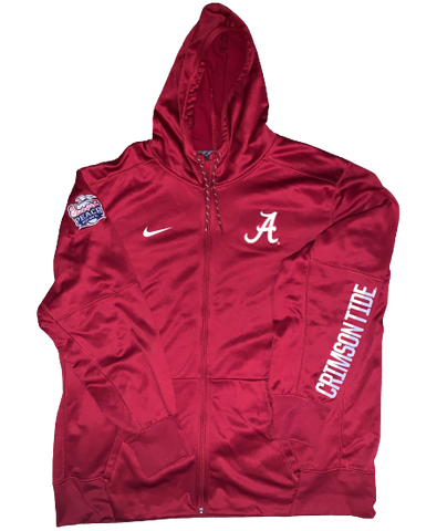 Dallas Warmack Alabama Team Issued Official Peach Bowl Jacket with Patch (Size XXL)