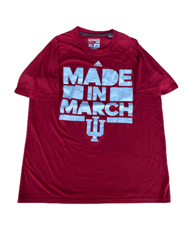"Max Bielfeldt Indiana Basketball ""Made In March"" Shirt (Size XL)"