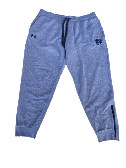 Tommy Kraemer Notre Dame Football Team Issued Sweatpants (Size XXL)