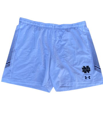 Tommy Kraemer Notre Dame Football Team Issued Workout Shorts (Size XXXL)