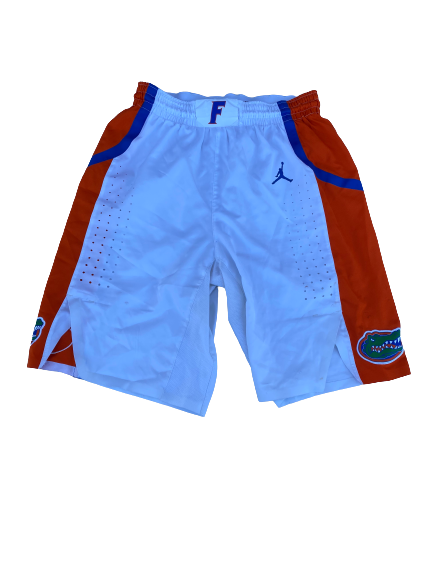 Scottie Lewis Florida Basketball 2019-2020 Season Game-Worn Shorts (Size 34 +1 Length)(Photo Matched)