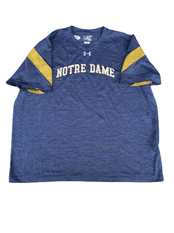 Tommy Kraemer Notre Dame Football Team Issued Workout Shirt (Size XXXL)