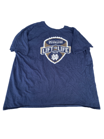 Tommy Kraemer Notre Dame Football Team Issued T-Shirt (Size XXXL)