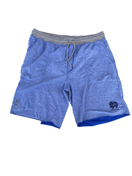 Tommy Kraemer Notre Dame Football Team Issued Sweat Shorts (Size XXXL)