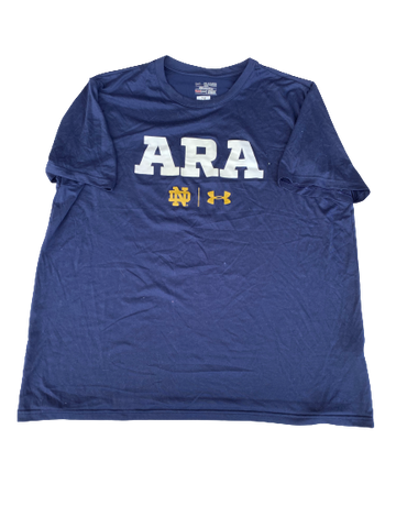 "Tommy Kraemer Notre Dame Football Team Issued ""Ara"" Shirt (Size XXL)"