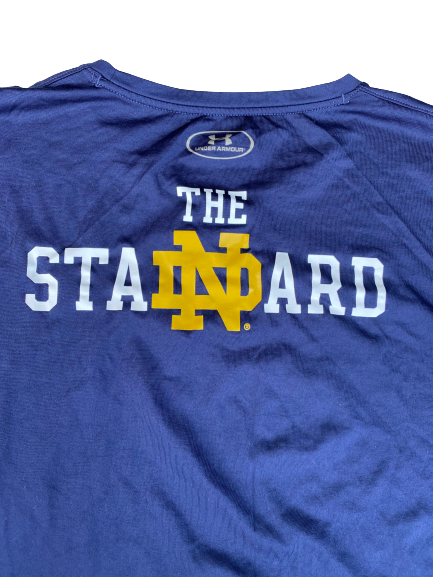 "Tommy Kraemer Notre Dame Football Player Exclusive ""The Standard"" Workout Shirt (Size XXXL)"
