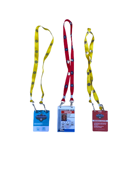 Scottie Lewis Florida Basketball 2021 March Madness and SEC Tournament Player Credentials (Set of 3)