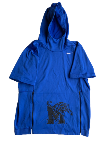 Memphis Basketball Short Sleeve Hoodie (Size L)