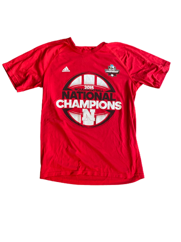 Kenzie Maloney Nebraska Volleyball SIGNED 2015 National Champions T-Shirt (Size M)