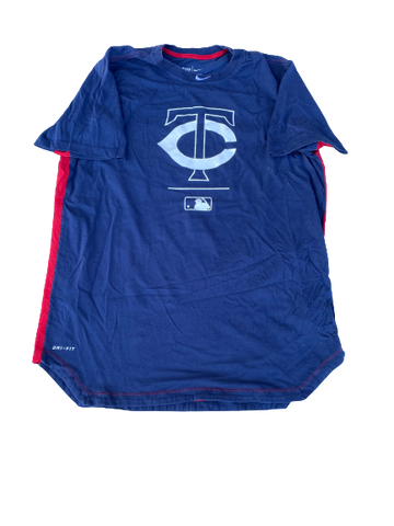 Cole Sands Minnesota Twins Team Issued Workout Shirt (Size XL)