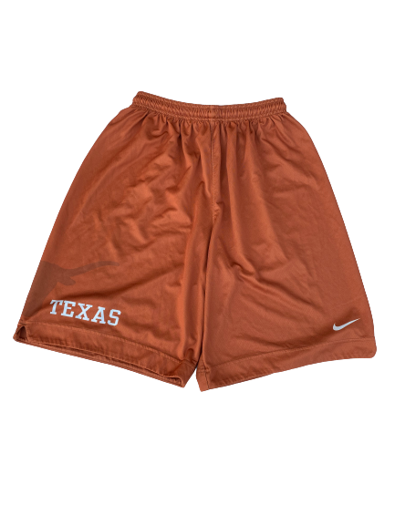 Blake Nevins Texas Basketball Player Exclusive Practice Shorts (Size XL)