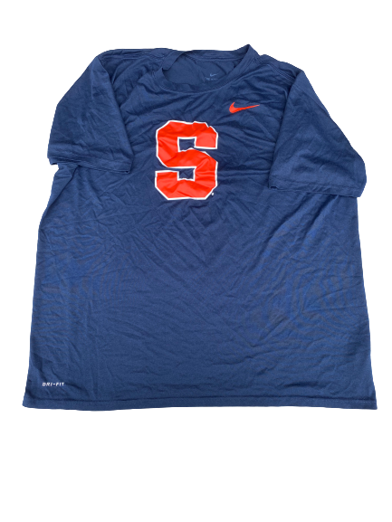 Kenneth Ruff Syracuse Football Team Issued Workout Shirt with Number on Back (Size XXL)