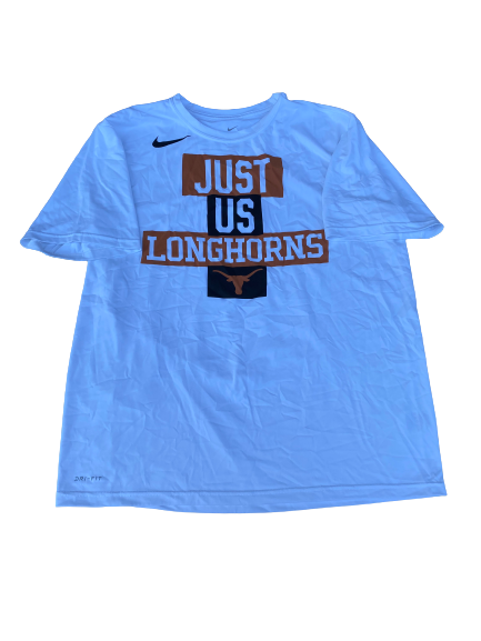 "Blake Nevins Texas Basketball Team Issued ""Just Us Longhorns"" T-Shirt (Size XL)"