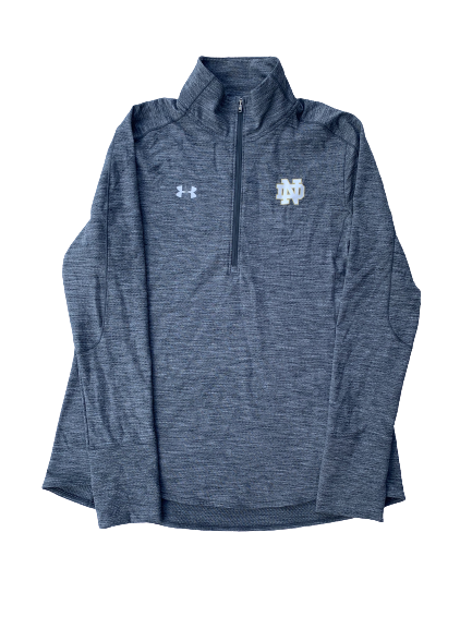 Arike Ogunbowale Notre Dame Team Issued Quarter-Zip (Size Women's L)