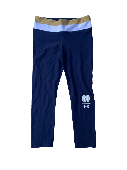 Arike Ogunbowale Notre Dame Team Issued Leggings (Size Women's L)