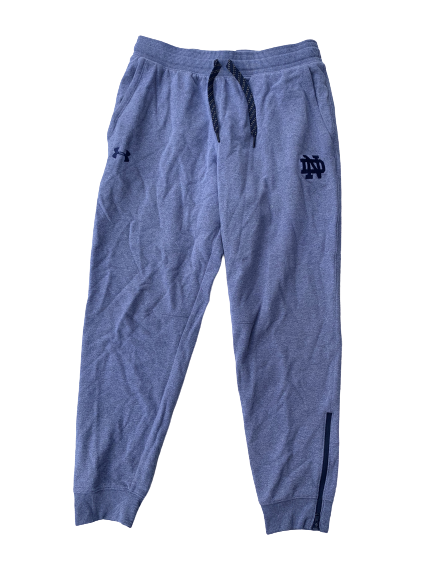 Arike Ogunbowale Notre Dame Team Issued Travel Sweatpants (Size L)