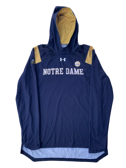 Arike Ogunbowale Notre Dame Team Exclusive Game Warm-Up Shooting Hoodie (Size L)