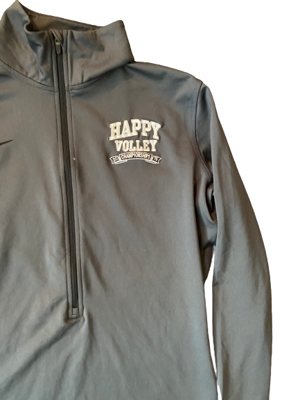 "Haleigh Washington Penn State ""Happy Volley"" 2015 Championships 1/4 Zip (Size L)"