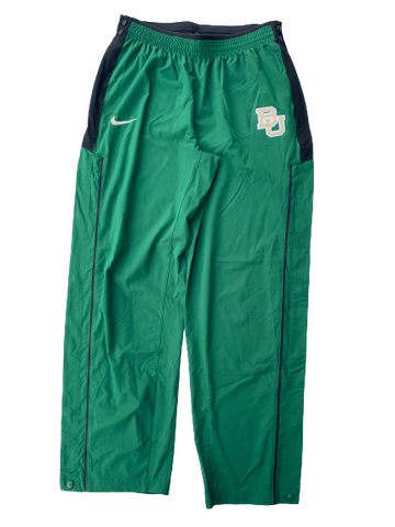 Chloe Jackson Baylor Team Issued Game Warm-Up Tear-A-Way Sweatpants (Size Women's LT)