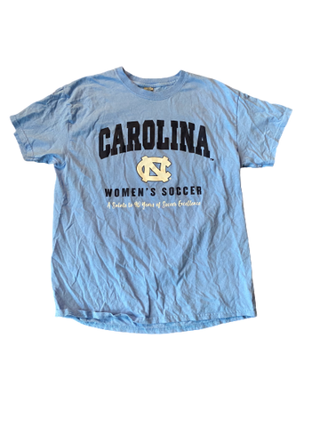 "Zoe Redei North Carolina Women's Soccer ""A Salute to 40 Years of Soccer Excellence"" T-Shirt (Size L)"