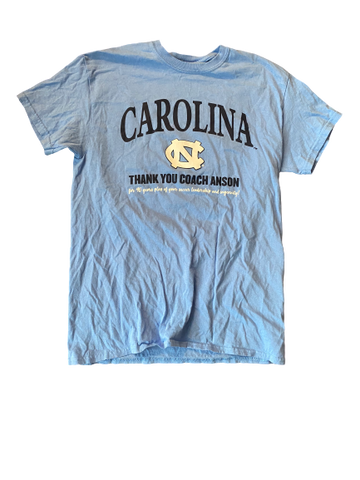 "Zoe Redei North Carolina ""Thank You Coach Anson"" T-Shirt (Size L)"