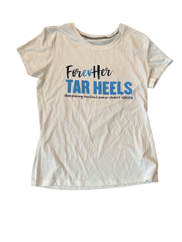 "Zoe Redei North Carolina ""Forever Tarheels"" T-Shirt (Size M)"