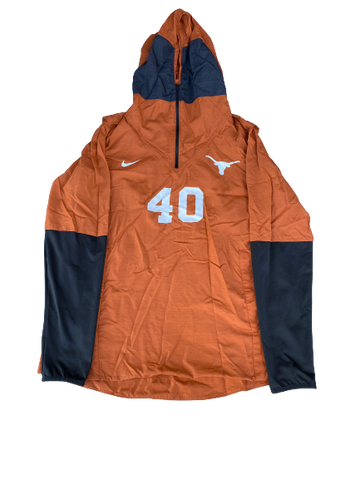 Jack Geiger Texas Football Player Exclusive Quarter-Zip Pullover with Number (Size L)