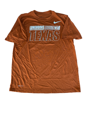 Jack Geiger Texas Football Team Issued Workout Shirt (Size L)