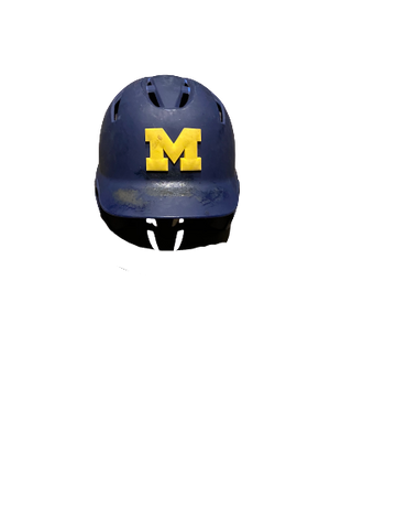 Harrison Wenson Michigan Baseball Game-Worn DeMarini Helmet With Number (Size 7 3/8 - 7 1/2)