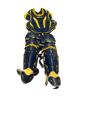 Harrison Wenson Michigan Baseball Wilson Catchers Set (Chest Protectors and Leg Guards)