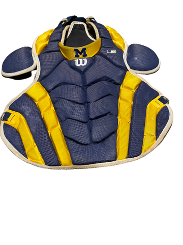 Harrison Wenson Michigan Baseball Wilson Chest Protector