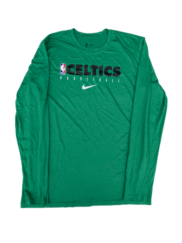 Tremont Waters Boston Celtics Team Issued Long Sleeve Shirt (Size L)