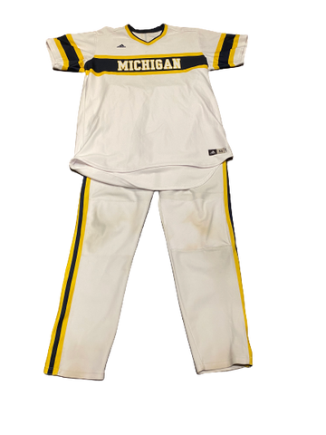 Harrison Wenson Michigan Baseball Game-Worn Uniform (Jersey, Pants, and Belt)