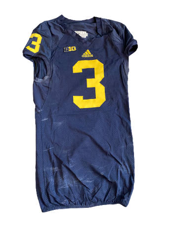 Mike McCray Michigan Football Team Issued Official Game Jersey