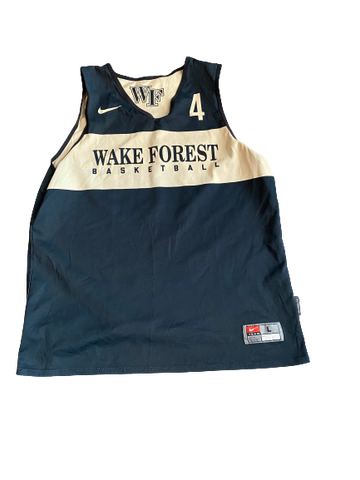 Torry Johnson Wake Forest Basketball Reversible Practice Jersey (Size L)