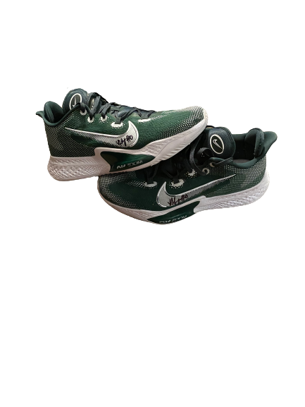 Aaron Henry Michigan State Basketball SIGNED Team Issued Shoes (Size 15)