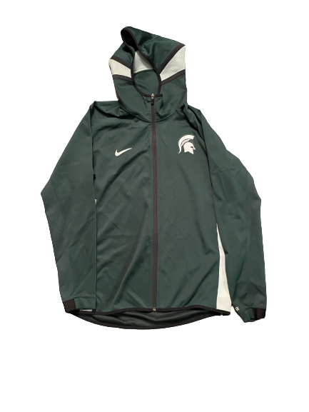 Aaron Henry Michigan State Basketball Team Issued Player Exclusive Sweatshirt (Size L)