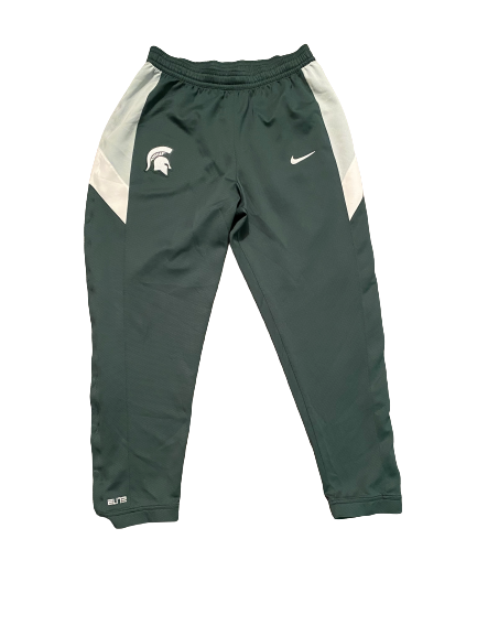 Aaron Henry Michigan State Basketball Team Issued Player Exclusive Sweatpants (Size XL)
