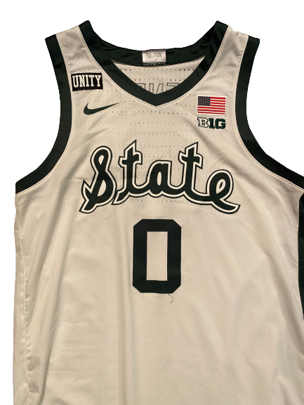 Aaron Henry Michigan State Basketball 2020-2021 Game Worn Jersey - Photo Matched