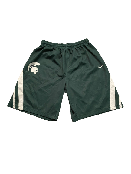 Aaron Henry Michigan State Basketball Player Exclusive Practice Shorts (Size L)
