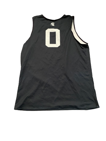 Aaron Henry Michigan State Basketball Player Exclusive Reversible Practice Jersey (Size L)