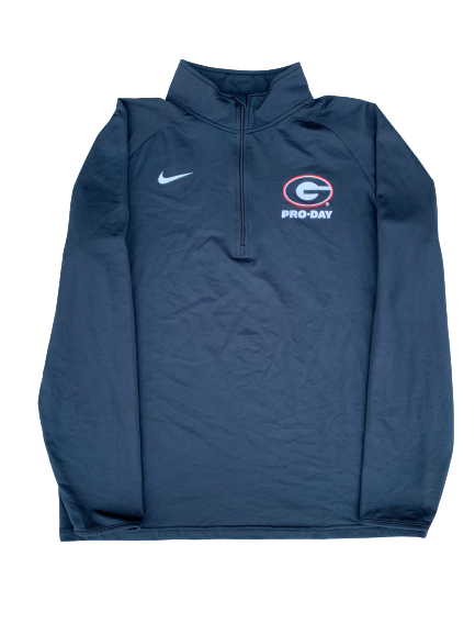 Tyler Simmons Georgia Football Player-Exclusive Pro-Day 1/4 Zip (Size L)