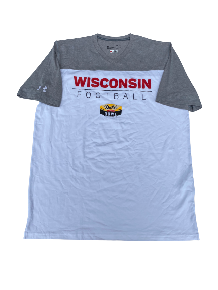 Adam Krumholz Wisconsin Football Duke's Mayo Bowl Player-Exclusive T-Shirt (Size L)