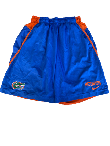 Mark Herndon Florida Football Team Issued Workout Shorts (Size XL)