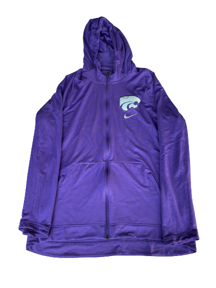 Pierson McAtee Kansas State Basketball Exclusive Full-Zip Warm-Up Jacket (Size XL)
