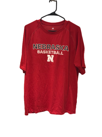 Haanif Cheatham Red Nebraska Basketball Adidas T-Shirt