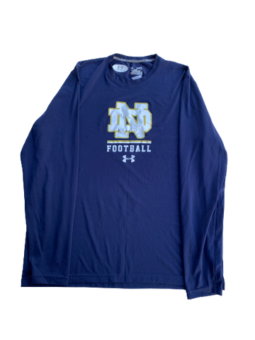 Scott Daly Notre Dame Football Under Armour Long Sleeve Shirt (Size XL)